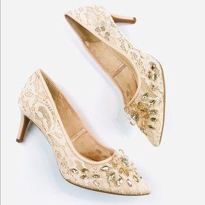 Alex Marie lace bridal nude shoes